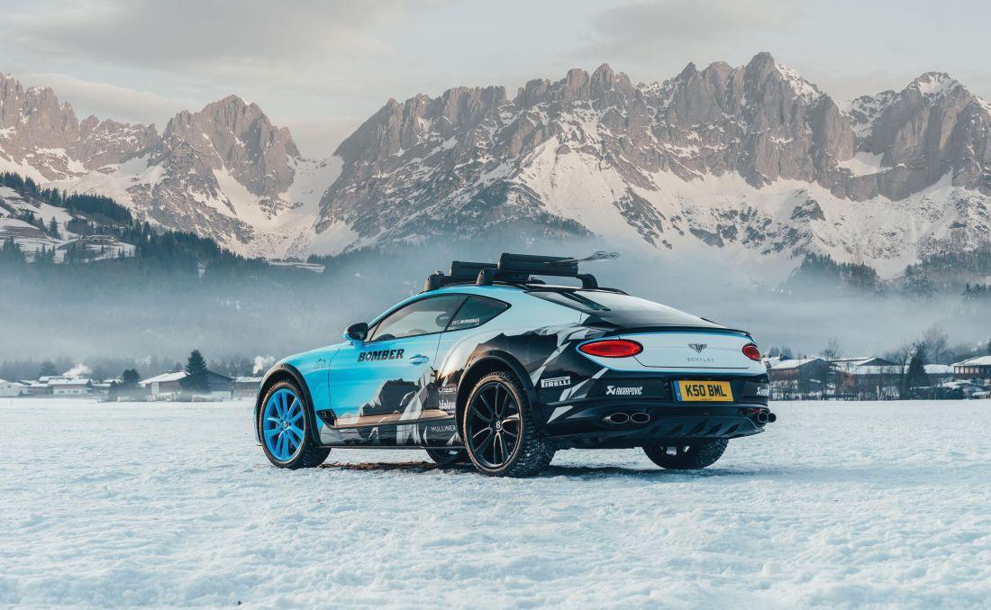 Bentley Continental GT spreman za utrku na ledu
