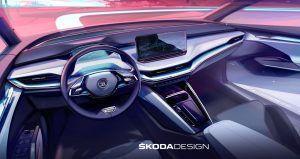 Škoda Enyaq iV i prva najava dizajna interijera