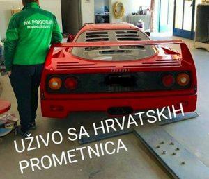 Kakav ulov, Ferrari F40 zasigurno je najposebniji automobil u Zagrebu