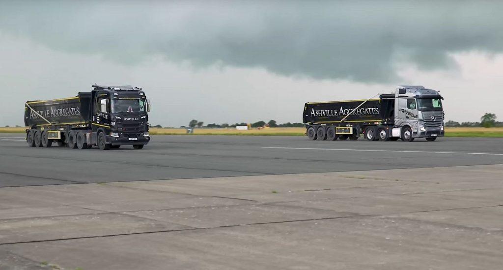 Scania R500 ili Mercedes-Benz Actros, najteža i najsporija utrka ubrzanja ikad?