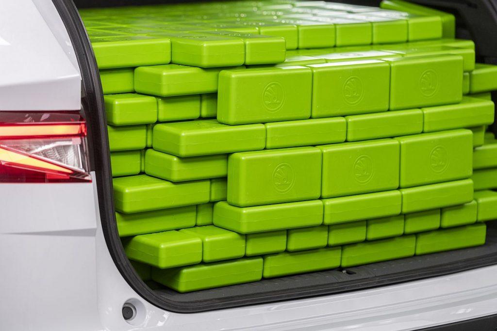Mjerenje kapaciteta prtljažnika, postupak kao igranje tetrisa