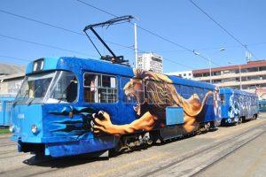 Plavi tramvaj vozi na liniji broj 4, Dinamo uz ZET slavi 110. rođendan
