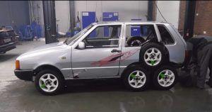 Fiat Uno sa 8 kotača dokaz je kako ljudska glupost nema granica!