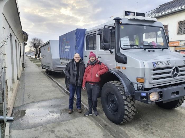 Unimog klub iz Njemačke stigao u pomoć žrtvama potresa u Petrinji