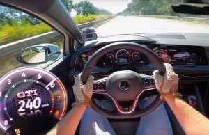 Volkswagen Golf 8 GTI na Autobahnu, mora li bježati od bržih iz krajnje lijeve trake?