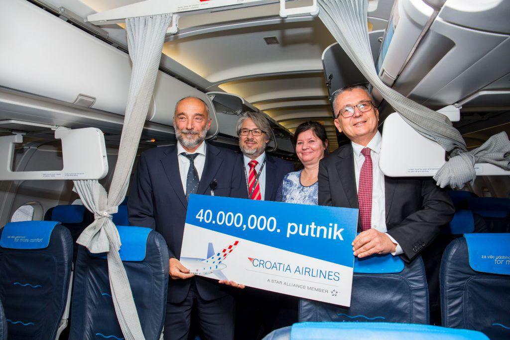 Croatia Airlines slavi 40 milijuntnog putnika u povijesti