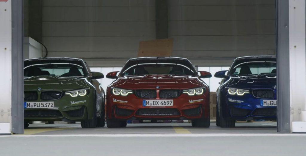 BMW M4 (ljetne gume) vs BMW M4 (zimske gume) vs BMW M4 (polu 'slik' gume), još uvijek niste promijenili gume?