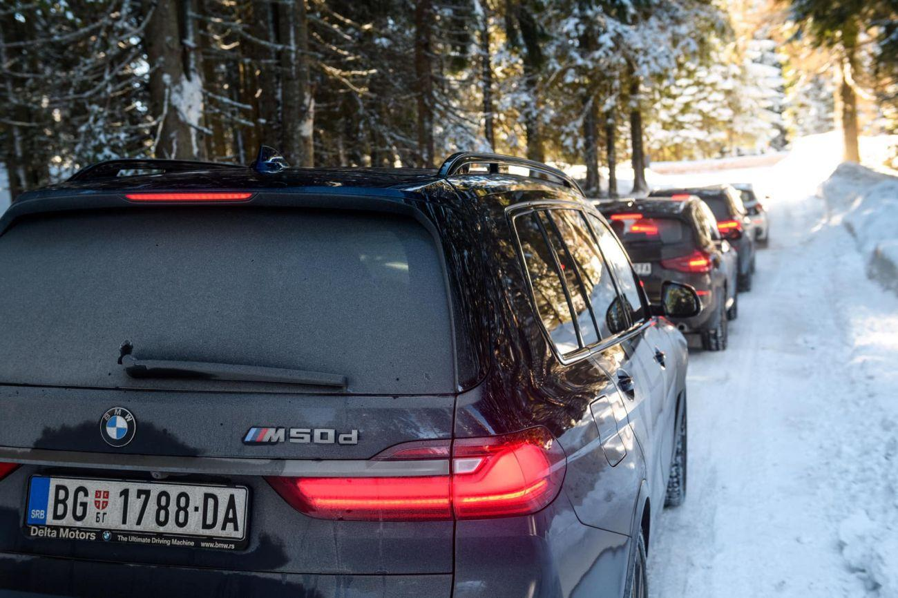 Za primjer našem zastupniku, BMW u Srbiji napravio odličnu prezentaciju na snijegu 2