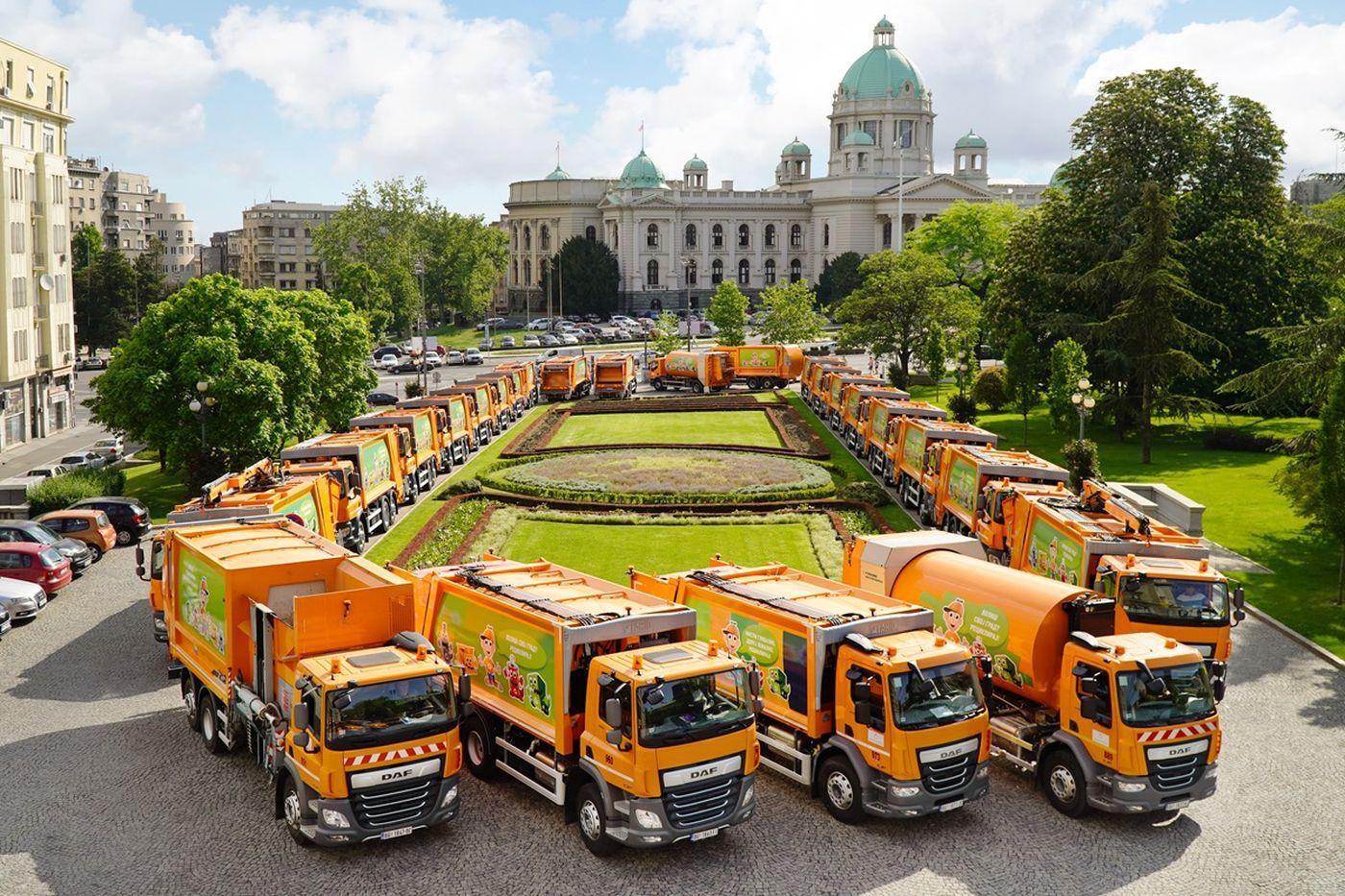 DAF Trucks delivers  city sanitation vehicles to Belgrade
