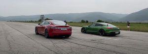 Tesla Model S P100D vs Porsche Taycan Turbo S - dvoboj najatraktivnijih strujaša današnjice otrkiva zanimljiv ishod