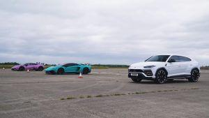 Lamborghini Urus vs Aventador SV vs Huracan u utrci ubrzanja, na koga bacate okladu?