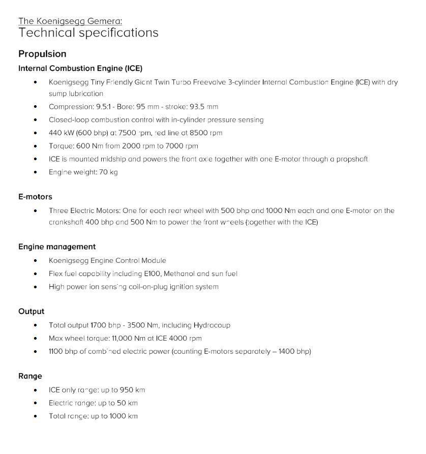 Koenigsegg Gemera, četiri sjedala, tri cilindra i 600 KS, ovaj 1700 KS, ma može! 6