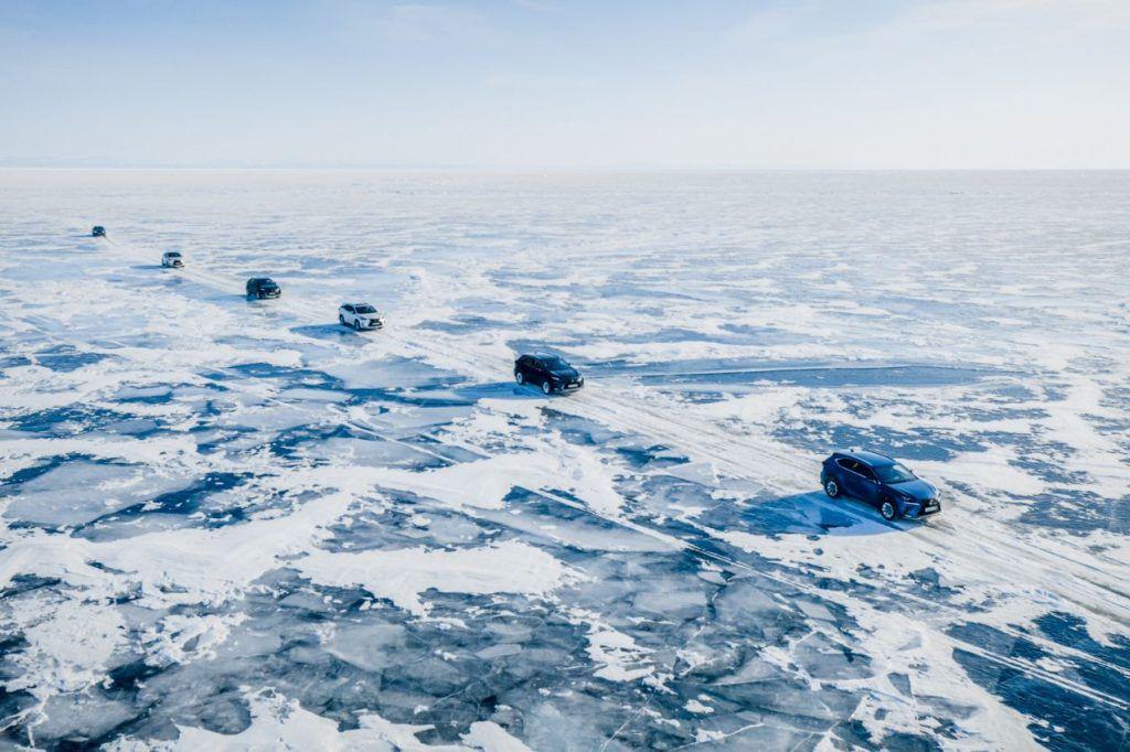 Lexus na Bajkalskom jezeru, bajkoviti prizori i potvrda hibridnih mogućnosti na ledu 1