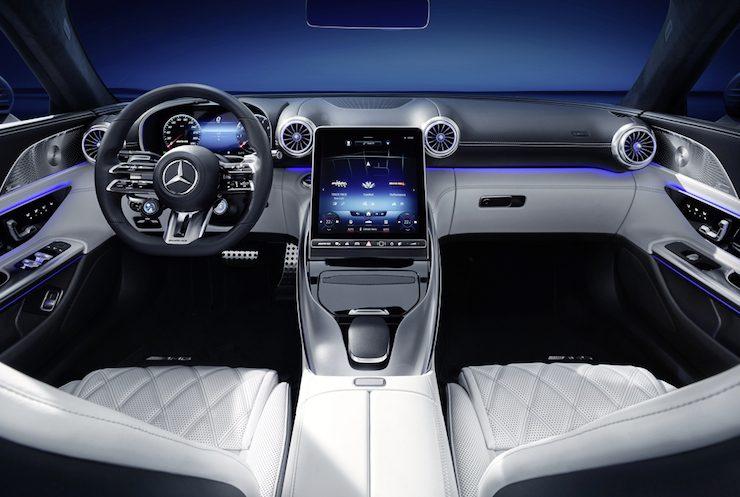 Mercedes AMG SL  interijer unutrašnjost MBUX