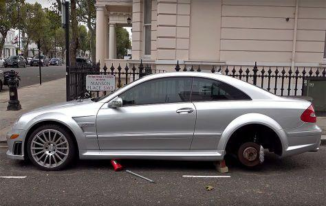 Mercedes CLK  AMG Black Series Felgen Diebstahl cfefdeb