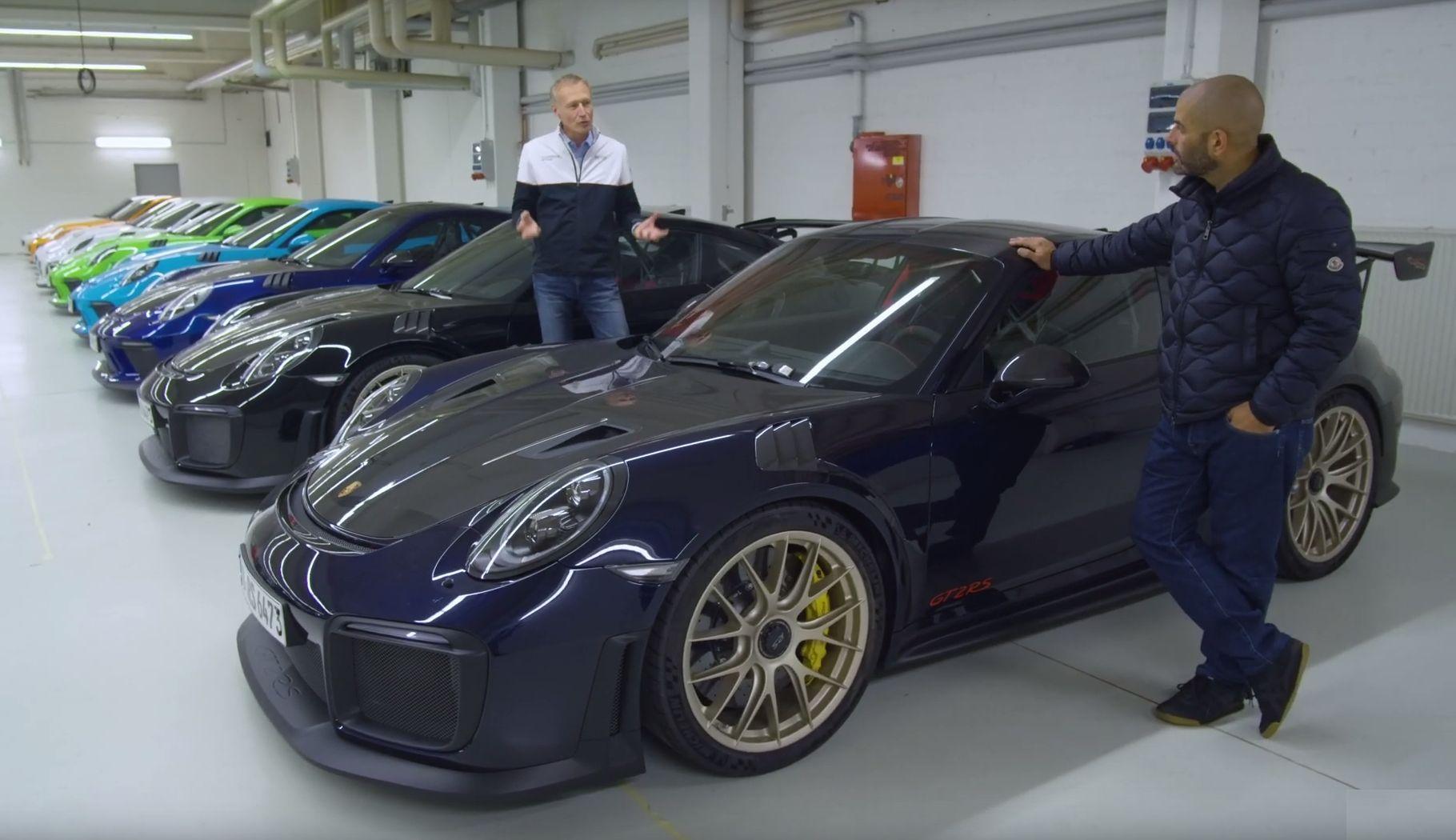 Porsche GT garage  Chris Harris
