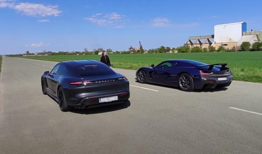 Rimac C Two vs Porsche Taycan