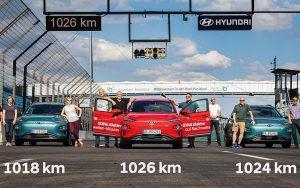Hyundai Kona Electric kao istinski električni maratonac, s jednim punjenem odradila 1026 km!