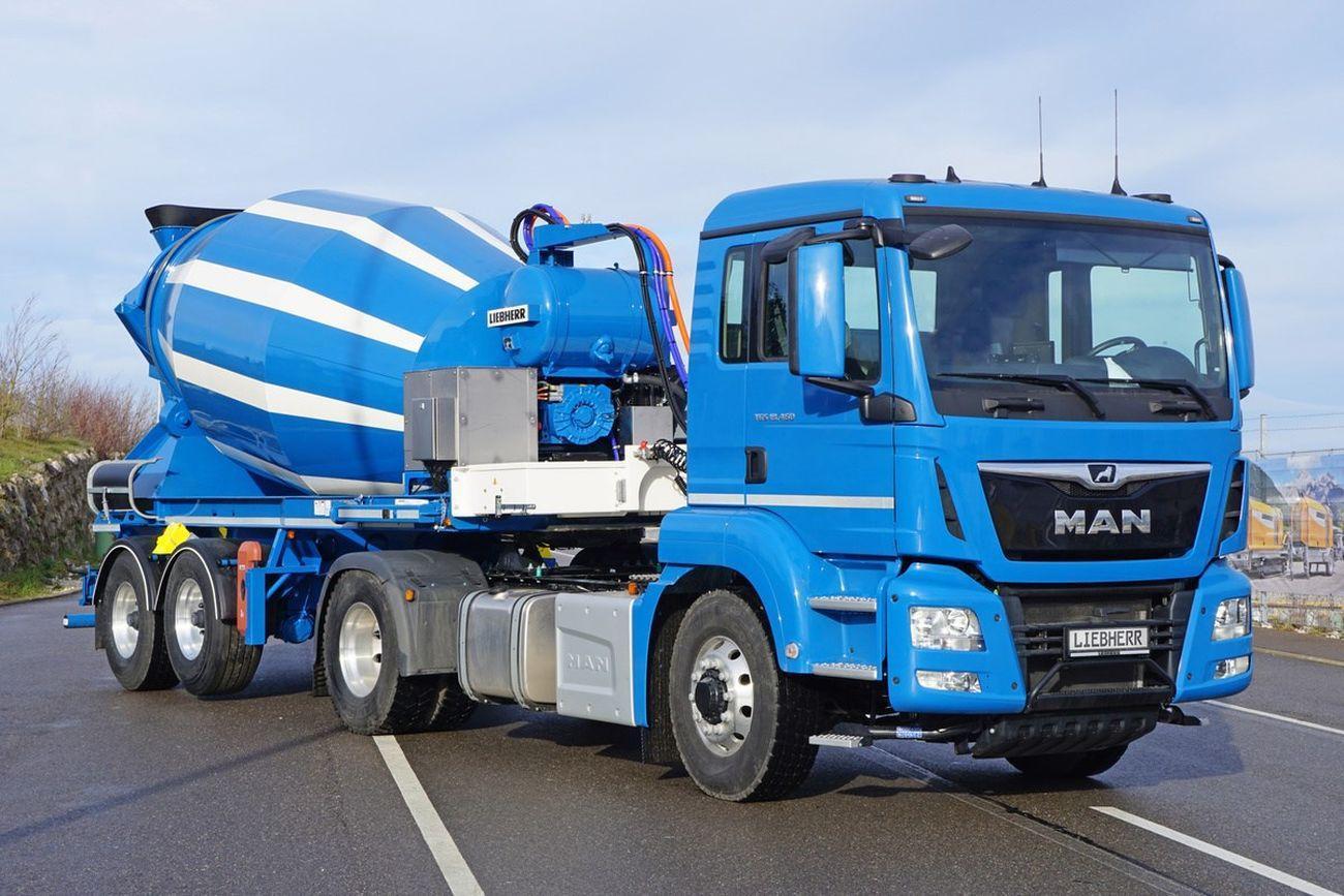 liebherr truck mixer ETM  trailer